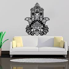 zooyoo creative home decor living room wall stickers indian buddha lotus mandala wall decals vinyl art