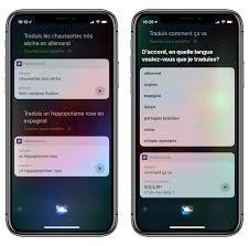 Avec Ios 12 Siri Traduit Du Français Vers Une Autre Langue