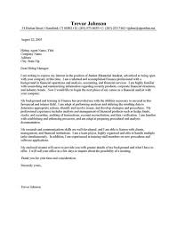 entry level financial analyst cover letter for financial analyst c770facc