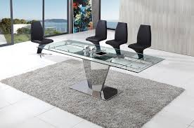 dome furniture. dome chrome glass dining table with aldo chairs furniture