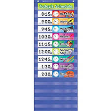 Daily Schedule Pocket Chart Blue