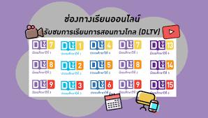 ช่องทางเรียนออนไลน์ - รับชมการเรียนการสอนทางไกล (DLTV)