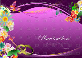 wedding invitation with flowers on purple wavy background vector image vector ilration of backgrounds to zoom