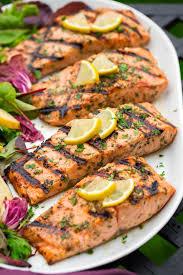 Grilled Lemon Garlic Salmon Recipe ...