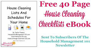 Free House Cleaning Checklist Ebook To Help You Keep Your