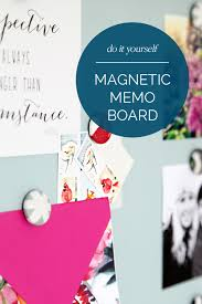How To Make A Magnetic Memo Board Enchanting IHeart Organizing DIY Magnetic Memo Board