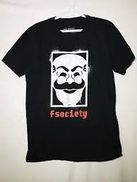 Loot Crate T Shirt Size Chart Mr Robot F Society Logo Reverse Black Licensed Adult Large