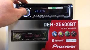 pioneer deh x5600bt mklshop dk youtube pioneer mvh 560bt at Pioneer Mvh X560bt Wiring Diagram