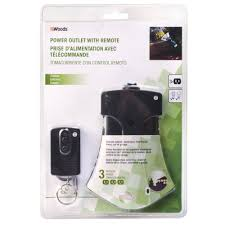 Remote Light Switch Home Depot Woods 13 Amp Outdoor Plug In Weatherproof Wireless Remote 3 Outlet Light Control Black