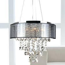 crystal chandelier with shade wonderful drum
