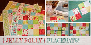 FREE Jelly Roll Quilted Placemat Pattern Beginners! & Jelly Roll Quilted Placemat Pattern Adamdwight.com