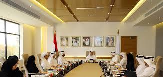 Interior Designers Dha Al Qutami Chairs Dha Ceo Council Meeting