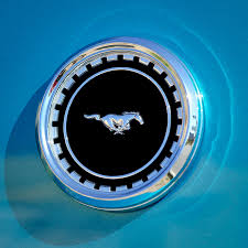 1969 Ford Mustang Mach 1 Emblem Photograph by Jill Reger