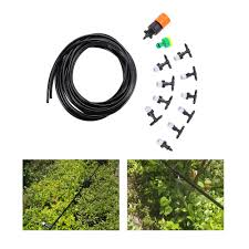 2019 10m garden hose fog nozzles irrigation system misting watering with spray head irrigation suit faucet connector cable tie from blithenice