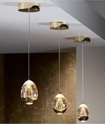 led single drop pendant with bubbles