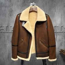 men s shearling leather jacket