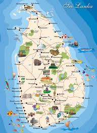 Map Of Sri Lanka Tourist Map Of Sri Lanka With All Cities