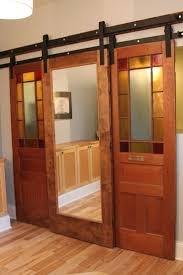 barn door kit for cabinet exterior sliding hardware with style track and interior stain glass doors
