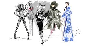 drawings fashion designs strokes of genius vogue paris