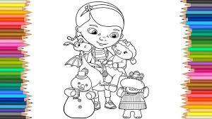 Doc Mcstuffins And Friends Coloring Page L Coloring Book Disney L
