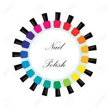 様々 な色のマニキュアのボトルをセットしますマニキュア