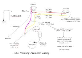 alternator wiring diagram ammeter alternator 1966 mustang ammeter wiring ford mustang forum on alternator wiring diagram ammeter