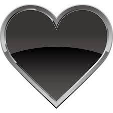 装飾 ハート黒いハートマークカラー 無料イラストpowerpoint