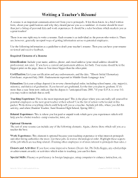 How To Write A Resume For Teaching Job Cover Letter List Education