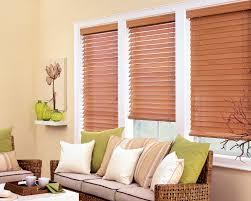 wooden venetian blinds 2 inch slats living room