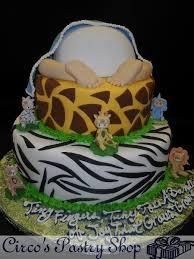 Safari Giraffe 5 Tier Diaper Cake  Baby Shower Diaper CakesBaby Shower Safari Cakes