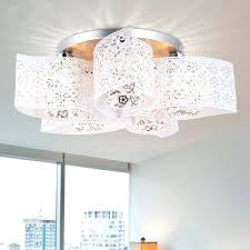 fantastic chandelier painting unique white painted metal hollow out living room ceiling lights of white painted