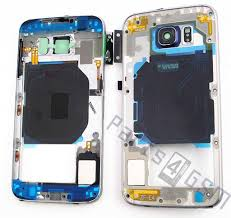 Samsung G920F Galaxy S6 Middle Cover Black GH96 08583A Parts4GSM