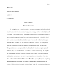 final draft of literacy narrative essays english language