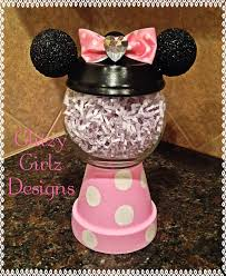 minnie mouse terra cotta pot container the ultimate list of minnie mouse craft ideas
