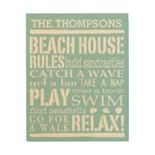 personalized family beach house rules wood wall decor on house rules wooden wall art with house rules wood wall art zazzle