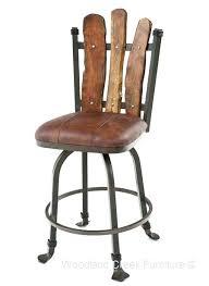 rustic bar stools. Bar Stools Rustic Wood Stool Mesquite Wooden Swivel .