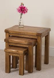 oak nest of tables uk choice image table decoration ideas