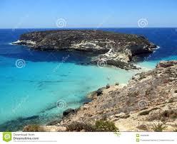 Overzees Van Het Lampedusa Eiland In Italië Stock Foto Afbeelding