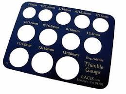 Thimble Size Chart Details About Thimble Gauge Lacis Ld75 Sewing Finger Measure Scale Guide Guage Size Chart