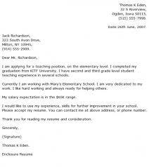 Elementary Teacher Cover Letter Examples Cover Letter Now Intended