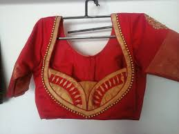 Designer Blouse Making Step By Step Download Peacock Maggam Work Blouse Source Blouse Design Images