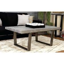 concrete and wood coffee table extra large grey