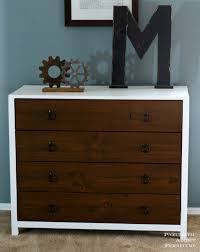 Modern Bedroom Chest Of Drawers Ana White Modern White Dresser With Wood Drawers Diy Projects