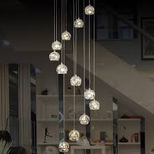 architecture and home amusing modern long chandeliers at spiral chandelier crystal lamp dia60 h300cm re