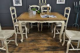 Shabby Chic Kitchen Table White Farmhouse Dining And Room Cream