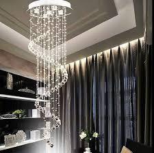 modern crystal pendant lamp ceiling light spiral lighting rain drop chandelier