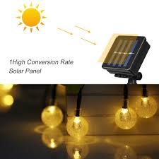 Solar Powered Globe Lights Us 10 69 35 Off 20 7ft 30 Leds Solar Powered String Crystal Ball Globe Lights Lamp Outdoor Light Garland Waterproof Christmas Home Decoration In