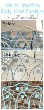 how to transform rusty metal furniture in just minutes spruce up your ugly patio furniture in minutes an easy diy project anyone can do
