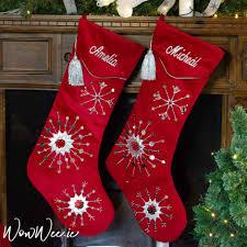 velvet christmas stockings. Plain Stockings Personalised Large Wine Velvet Stocking  Luxuriously Beaded U0026 Embroidered  Snowflakes For Christmas Stockings I