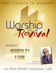Church Revival Images Church Revival Event Flyer Template Postermywall
